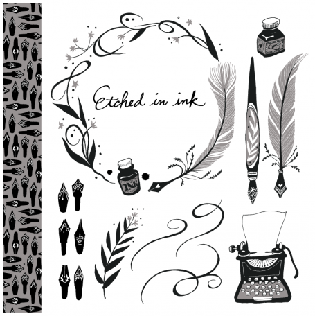 Etched in Ink - Clip Art Set