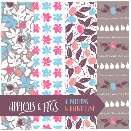 Figs and Apricots - Pattern Set
