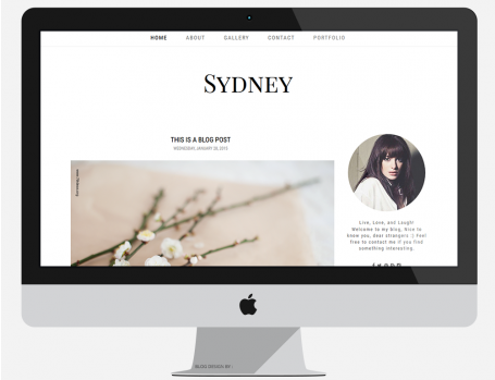 Premade Blogger Template - SYDNEY