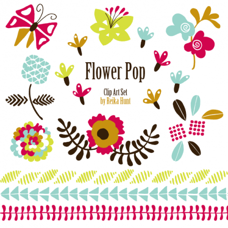 Flower Pop - Hand Drawn Clip Art