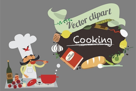 Cooking Big vector collection
