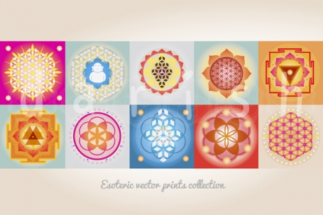 SACRED GEOMETRY DIGITAL PRINTS