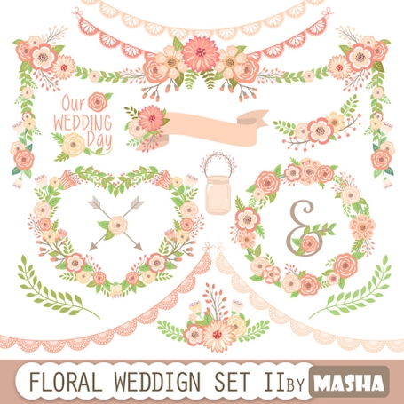 FLORAL WEDDING SET II