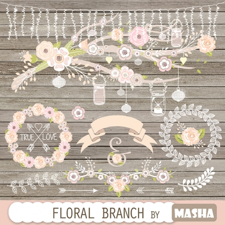 Floral Branch Clipart