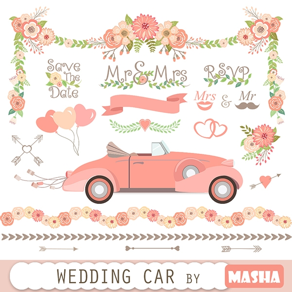 Wedding Car Clipart - Graphics / Clip Art | Luvly