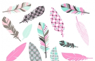 Aztec Feather Clipart