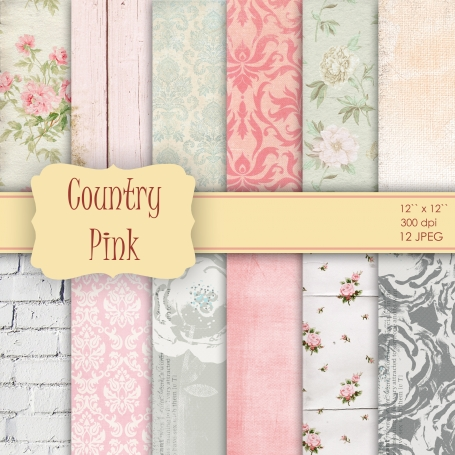 Vintage Country Shabby Chic Pink