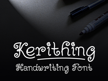 Kerithing Handwriting Font