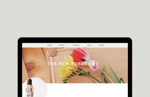Premade Blogger Template - The New