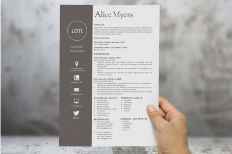 Modern Resume Template and Cover