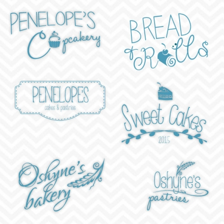 Bakery Logo Set Blue