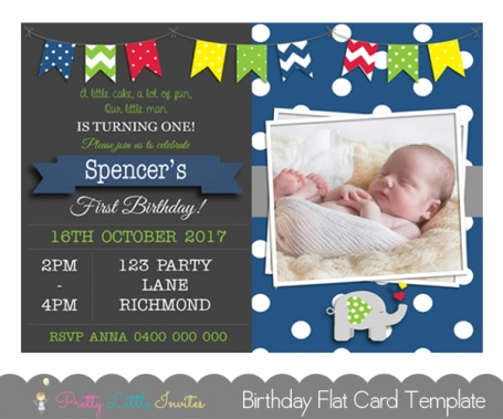 Boys Birthday Invitation