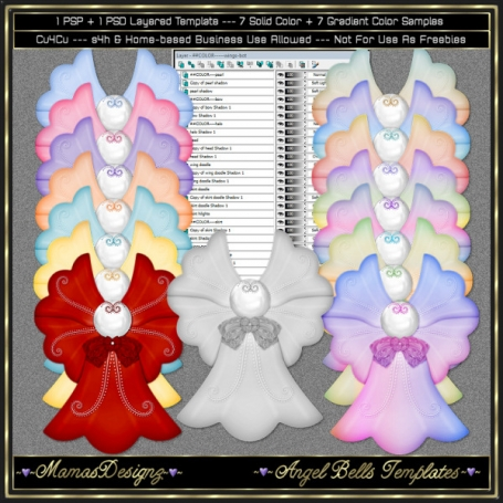 Angel Bells Templates