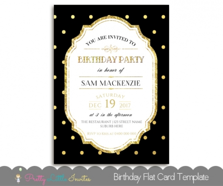 Black & Gold Birthday