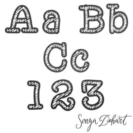 Clipart Chalk Alphabet