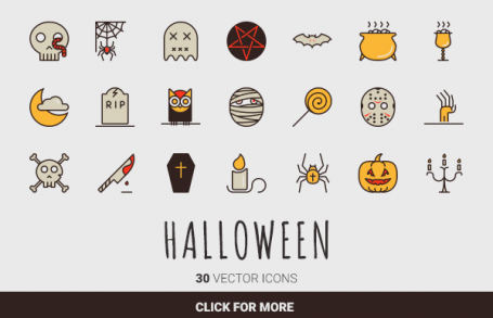Boo! - 30 Halloween Vector Icons
