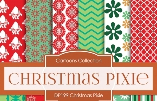 Digital Papers - Christmas Pixie