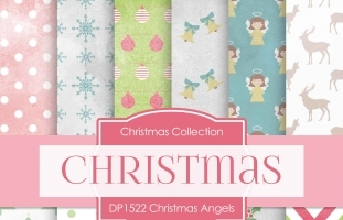 Digital Papers - Christmas Angels