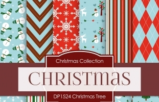 Digital Papers - Christmas Tree