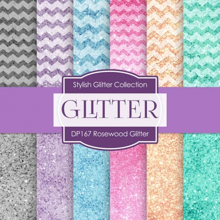 Digital Papers - Rosewood Glitter