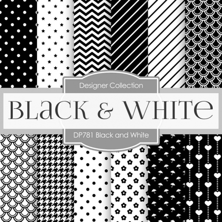 Digital Papers - Black and White