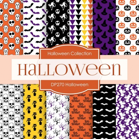 Digital Paper - Halloween (DP270)