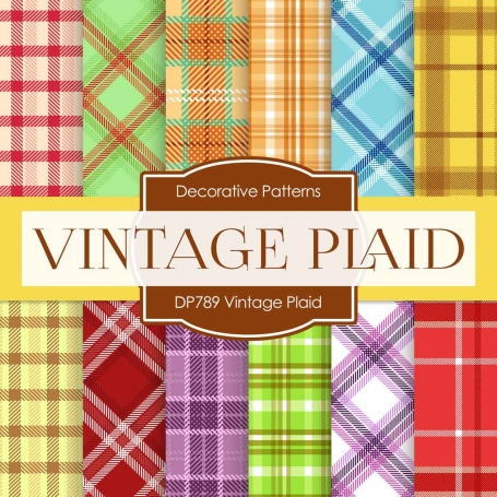 Digital Paper - Vintage Plaid