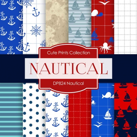 Digital Paper - Nautical (DP824)