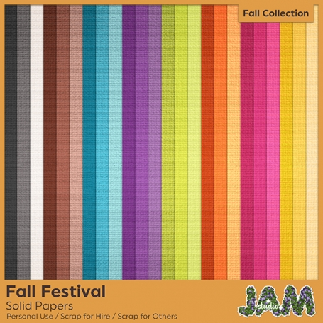Fall Festival - Solid Papers