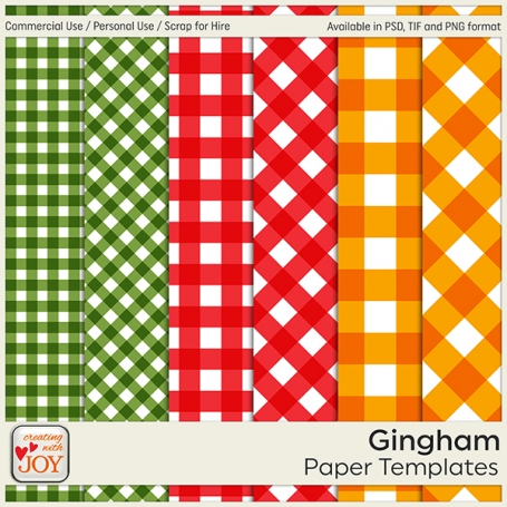 6 Gingham Paper Templates