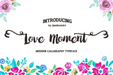 Love Moment Typeface