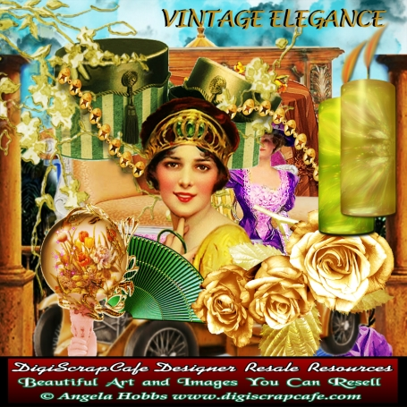 Vintage Elegance Scrapbook Kit