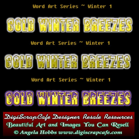 Cold Winter Winds Breezes Word Art