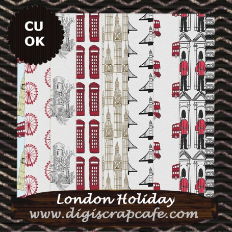 London Holiday Digital Background