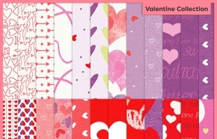 Valentine Patterned Papers