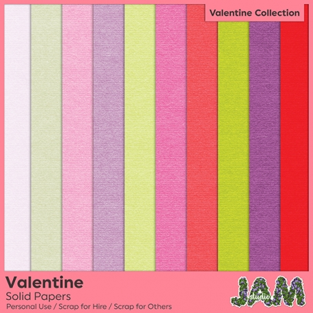 Valentine Solid Papers