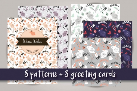 8 patterns + 8 greeting cards