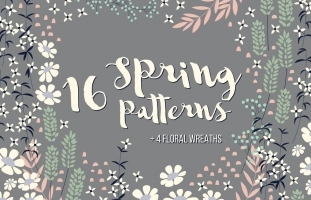 16 Spring Patterns + 4 Wreaths
