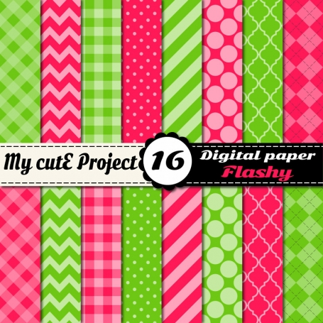 Pink & Green Digital Paper