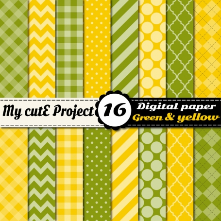 Green & Yellow Digital Paper