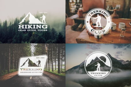 6 Trekking Adventure Badges &