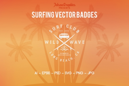 Summer Surfing Badges &
