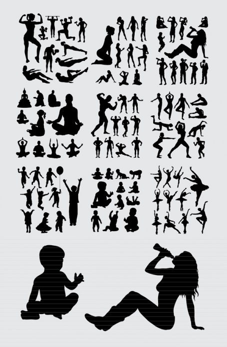 People Activity Silhouette