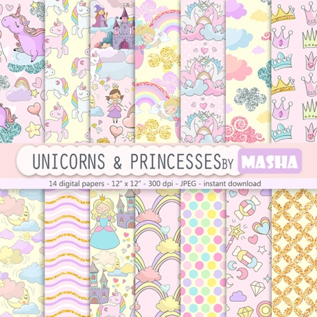 Unicorns and Princesses Digital