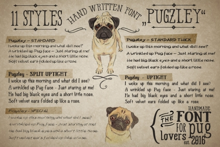 "Hand made Font ""Pugzley"""