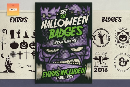 Halloween Badges & Extras Vol.1
