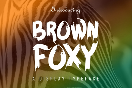 Brown Foxy Typeface
