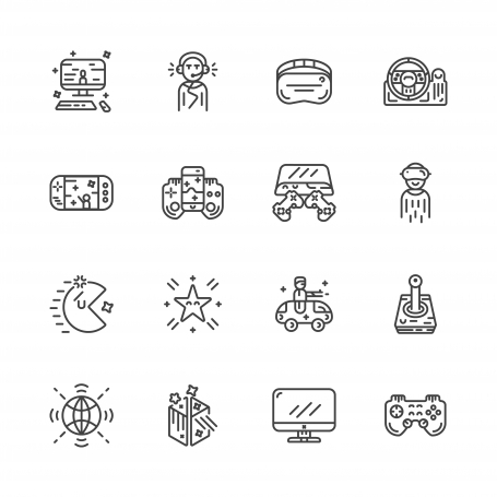 Outline Videogame Icons