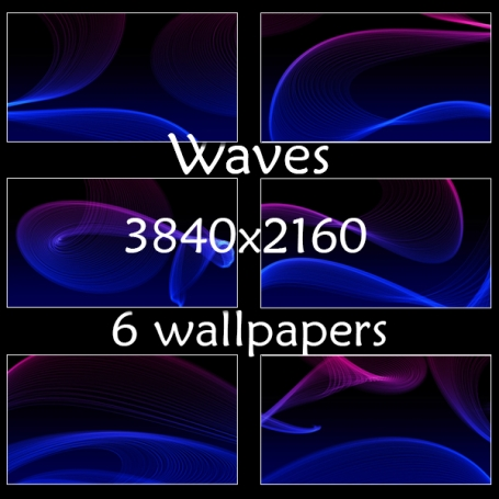 Abstract Blue Space Waves