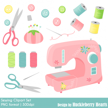 Sewing Clipart, Sewing Machine,